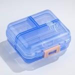 Mizi Small Pill Box Portable Dispensing Medicines Boxes, Colour: 7 Grid (Blue)