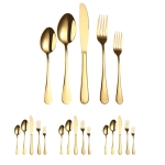 20 in 1 Stainless Steel Cutlery Steak Cutlery Set, Specification: Golden