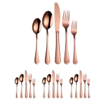 20 in 1 Stainless Steel Cutlery Steak Cutlery Set, Specification: Rose Gold