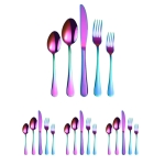 20 in 1 Stainless Steel Cutlery Steak Cutlery Set, Specification: Colorful