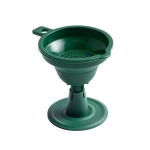 2 PCS Creative Folding Silicone Funnel Kitchen Household Oiler Wine Bottle Filter(Deep  Green)