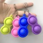 4 PCS Finger Bubble Silicone Decompression Keychain Toy