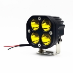 40W Yellow Light Motorcycle LED Spotlight Headlight Car Front Bumper Light Off-Road Vehicle Modified Roof Light