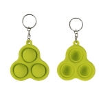 4 PCS Press Bubble Fun Mini Pressure Relief Fingertip Toy Silicone Finger Practice Keychain,Style: Triangle (Green)