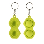 4 PCS Press Bubble Fun Mini Pressure Relief Fingertip Toy Silicone Finger Practice Keychain,Style: Hexagon (Green)