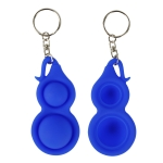 4 PCS Press Bubble Fun Mini Pressure Relief Fingertip Toy Silicone Finger Practice Keychain,Style: Small Gourd (Blue)