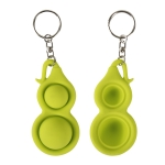 4 PCS Press Bubble Fun Mini Pressure Relief Fingertip Toy Silicone Finger Practice Keychain,Style: Small Gourd (Green)