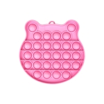 3 PCS Children Mathematical Logic Educational Toys Silicone Pressing Parent-Child Board Game, Style: Pink