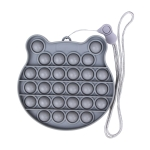 3 PCS Children Mathematical Logic Educational Toys Silicone Pressing Parent-Child Board Game, Style: With Rope (Gray)