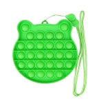 3 PCS Children Mathematical Logic Educational Toys Silicone Pressing Parent-Child Board Game, Style: With Rope (Green)