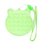 3 PCS Children Mathematical Logic Educational Toys Silicone Pressing Parent-Child Board Game, Style: With Rope (Luminous Green)