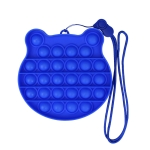 3 PCS Children Mathematical Logic Educational Toys Silicone Pressing Parent-Child Board Game, Style: With Rope (Blue)