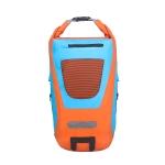 25L Outdoor Sports Waterproof Backpack PVC Cycling Travel Storage Bag(Orange + Lake Blue)
