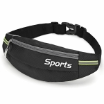 Sports Waist Bag Running Equipment Lightweight Large-Capacity Water-Repellent Breathable Outdoor Bag, Size: 7 inch(Black)