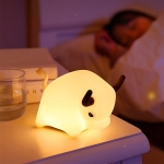 BD-NL-11 Cow Silicone Lamp USB Dimming Night Light Children Bedside Timing Sleeping Light(Yellow Light)