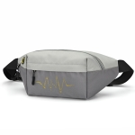 Multifunctional Waist Bag Sports Large Capacity Trendy Diagonal Bag Outdoor Commuter Waist Bag(Light Grey)