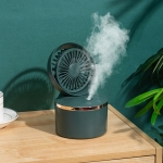 JW-02 USB Spray Fan Desktop Home Office Moisturizing Humidifier Fan(Green)