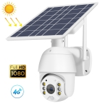 T16 1080P Full HD 4G (EU Version) Network Monitoring Solar Powered Camera, Support PIR + Radar Alarm, Night Vision, Two Way Audio, TF Card