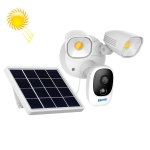 ESCAM QF609 1080P Solar Powered 1000LM Floodlight Wireless Camera with Solar Panel & 12000mAh Rechargeable Battery, Support PIR Sensor & Night Vision & Two Way Audio & TF Card