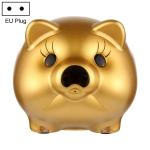 F-09 2 Million Pixels 1080P Piggy Bank Intelligent Camera, Support Two-way Audio & Matte Night Vision, EU Plug(Gold)