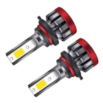 2 PCS EV19 9006 / HB4 DC9-30V 30W 3000LM 3000K IP68 Car Fog Lights (Gold Light)