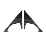2 PCS Car Carbon Fiber Front Triangle Decorative Sticker for Infiniti FX 2009-2013/QX70 2014-, Left and Right Drive Universal