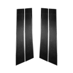 4 PCS Car Carbon Fiber B Pillar Decorative Sticker for Infiniti FX 2009-2013/QX70 2014-, Left and Right Drive Universal