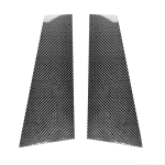 2 in 1 Car Carbon Fiber B-pillar Decorative Sticker for Mercedes-Benz CLA W117 2013-2019, Left and Right Drive Universal