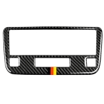 Car Carbon Fiber German Color CD Panel Decorative Sticker for Mercedes-Benz Traje Para GLK X204 300, 260, 350, 250, 220, 2013-2015, Left and Right Drive Universal