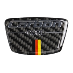 Car Carbon Fiber German Color Doorpost Decorative Sticker for Mercedes-Benz, Left and Right Drive Universal