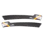 Car Carbon Fiber Rearview Mirror Anti-collision Strip D for Mercedes-Benz A/B/C/E Class/GLK/GLE/GLS/GLA/CLA, Left and Right Drive Universal