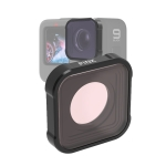 JSR KB Series Diving Color Lens Filter for GoPro HERO9 Black(Pink)