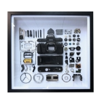 Non-Working Display 3D Mechanical Film Camera Square Photo Frame Mounting Disassemble Specimen Frame, Model: Style 4, Random Camera Model Delivery