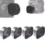 JSR KS 4 in 1 ND8PL+ND16PL+ND32PL+ND64PL Lens Filter for DJI FPV, Aluminum Alloy Frame