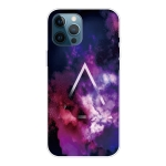 Shockproof Painted Transparent TPU Protective Case For iPhone 12 Pro Max(Triangle Starry Sky)