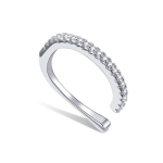 S925 Sterling Silver Silver Simple Ear Clip Women Earrings