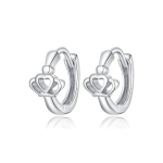 S925 Sterling Silver Silver Crown Ear Buckle Women Earrings