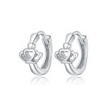 S925 Sterling Silver Silver Crown Ear Buckle Women Earrings