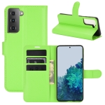 For Samsung Galaxy S21+ 5G Litchi Texture Horizontal Flip Protective Case with Holder & Card Slots & Wallet(Green)