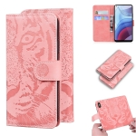 For Motorola Moto G Power (2021) Tiger Embossing Pattern Horizontal Flip Leather Case with Holder & Card Slots & Wallet(Pink)