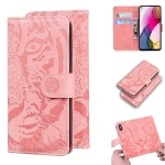 For Motorola Moto G Stylus (2021) Tiger Embossing Pattern Horizontal Flip Leather Case with Holder & Card Slots & Wallet(Pink)