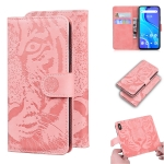 For UMIDIGI A7S Tiger Embossing Pattern Horizontal Flip Leather Case with Holder & Card Slots & Wallet(Pink)