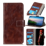 For Samsung Galaxy A02s (US Version) Retro Crazy Horse Texture Horizontal Flip Leather Case with Holder & Card Slots & Photo Frame & Wallet(Brown)