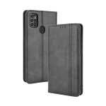 For ZTE Blade A7s 2020 Magnetic Buckle Retro Crazy Horse Texture Horizontal Flip Leather Case with Holder & Card Slots & Photo Frame(Black)