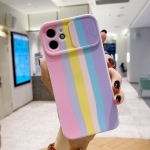 Rainbow Sliding Lens Cover Design Shockproof Protective Case For iPhone 11(A)