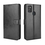 For ZTE Blade A7s 2020 Retro Crazy Horse Texture Horizontal Flip Leather Case with Holder & Card Slots & Lanyard(Black)