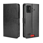 For UMIDIGI Bison Retro Crazy Horse Texture Horizontal Flip Leather Case with Holder & Card Slots & Lanyard(Black)