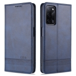For Oppo A55 5G AZNS Magnetic Calf Texture Horizontal Flip Leather Case with Card Slots & Holder & Wallet (Blue)