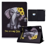 Electric Pressed TPU Colored Drawing Horizontal Flip Leather Case with Holder & Pen Slot For iPad 5 / 6 / 8 / 9(Flower Elephant)
