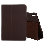 For Lenovo Tab 4 10 Plus (TB-X704) / Tab 4 10 (TB-X304) Litchi Texture Solid Color Horizontal Flip Leather Case with Holder & Pen Slot(Brown)